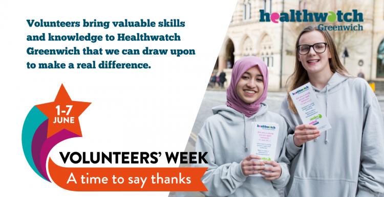 Healthwatch Greenwich Volunteers Week 2021