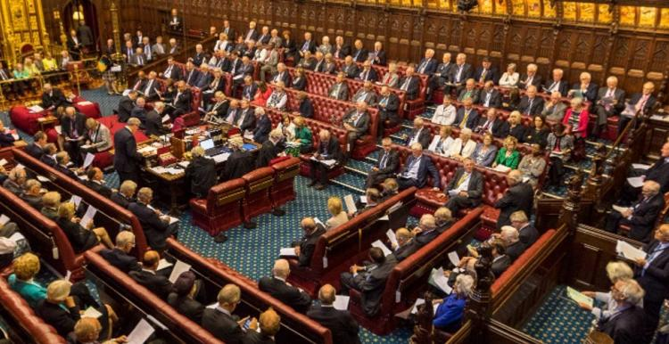 Photo of the inside of the house of lords