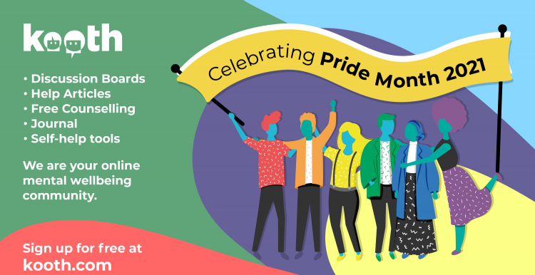 Kooth Pride - mental health support for LGBT people