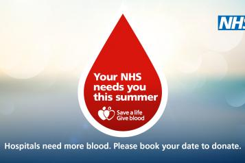 NHS Summer Blood Donation Campaign