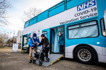 COVID 19 Vaccination Bus in Royal Greenwich