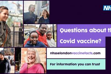 A photo collage of south east London locals that have had the COVID-19 vaccine