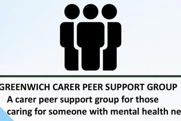an image of the carer's peer support group flyer