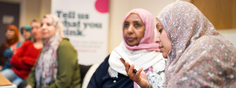 3 older female volunteers