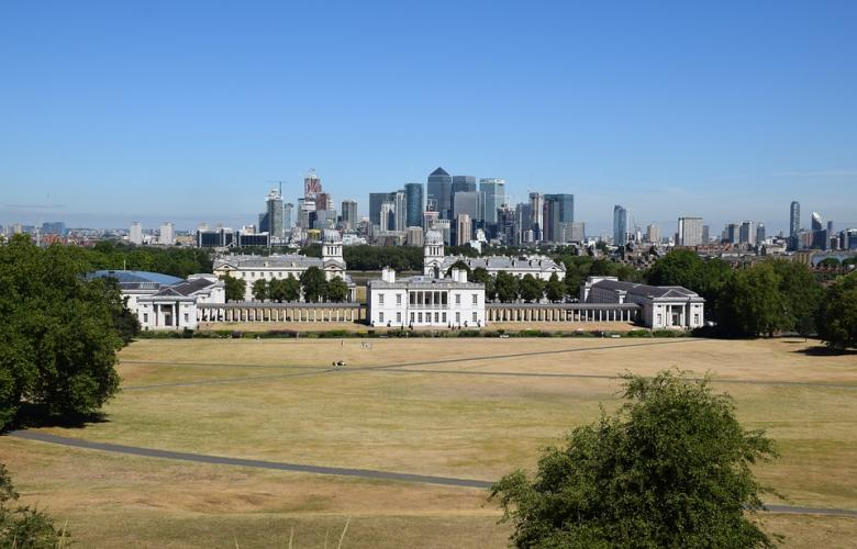 Greenwich Maritime Museum view from the hill
